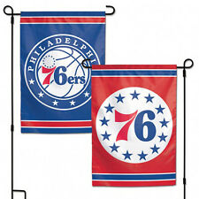 "Philadelphia 76ers NBA Garden Flag Double Sided Licensed 12.5"" x 18"""