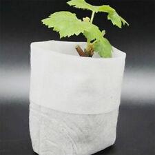 100x Non Tissé Jardin Pots Plante Racine Sac Pochette Semis Légume Nursery Outil