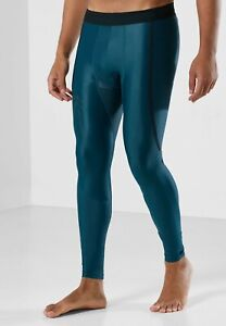 Under Armour Iso-Chill Perforated Leggings Men's Dark Cyan Blue Black Activewear