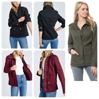 Women's  Long Sleeve  Utility Anorak Jacket( S-L)