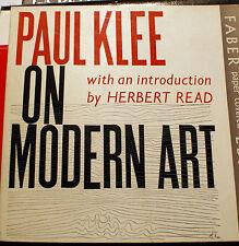 KLEE/ON MODERN ART/INTRO PAR H.READ/ED FABER/1967/DESSINS