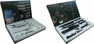 6tlg. Messer-Set+Sparschäler Kochmesser Fleischmesser Universalmesser Schälmesse