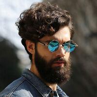 Vintage Polarized Steampunk Sunglasses Men Fashion Round Mirrored Retro Eyewear