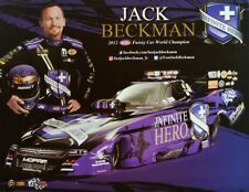 2018 NHRA page de prospectus postcard Autograph Card * Infinite Hero * Jack Beckman D.S.R.