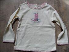 GYMBOREE schönes Langarmshirt Cowgirl creme Gr. 3/98 NEU ST817