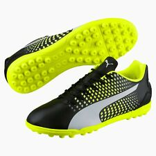 Men's Puma Adreno III TT Black / Yellow Astro Turf Football Trainers UK 6.5 - 12