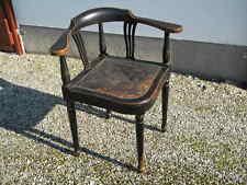 1900 ant. JUGENDSTIL SCHREIBTISCHSTUHL ECKSTUHL Buche schwarz Art Nouveau Stuhl