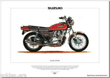 SUZUKI GS750 Motorcycle Fine Art Print - 1976 Superbike