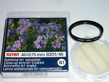 Nahlinse +1  46mm vergütet  Rowi -Neuware