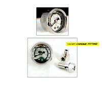ADD W1 FPR 0 -70 PSI Liquid Fill chrome oil Gauge KIT 1/8 Npt + Fitting