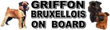 GRIFFON BRUXELLOIS ON BOARD Car Sticker by Starprint