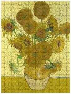 Sunflowers (F454) (Vincent van Gogh), jigsaw puzzle, 610mm×457mm, 500pcs