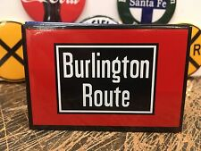 classic BURLINGTON ROUTE  railway RAILROAD full backed refrigerator RR MAGNET