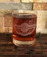 Harley Davidson Hundred 100th Anniversary Collectible Whiskey Glass 12 Oz