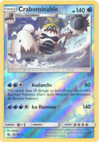 Pokemon Card - Sun & Moon 43/149 - CRABOMINABLE (reverse holo-foil) - NM/Mint