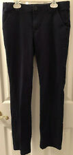 Cherokee Navy Uniform Pants Girls' Size 16 With Adjustable Waist Feature Euc