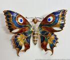 Stunning Natural Ruby Diamond Enamel 18k Gold Giovanni Apa Moth Butterfly Brooch