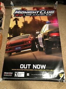 MIDNIGHT CLUB LOS ANGELES Original HUGE 4x6' Game Poster RARE