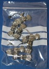 10 X Antique Style Clam Shell Chrome Metal Cafe Lace Curtain Clips(4 cm) Pl-3651