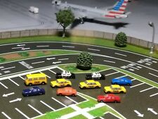 Airport Accessories 1:400 Scale Taxis, Police & Consumer Cars 10-Pack
