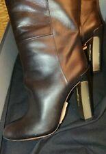 B Brian Atwood metallic deco heel boot New