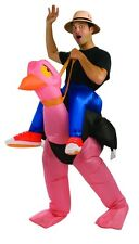Ostrich Costume Adult Funny Inflatable Blow Up Humorous Ride the Ostriche - Fast