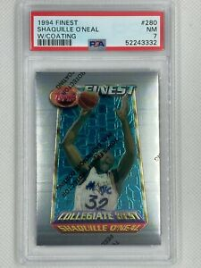 1994-95 Topps Finest Shaquille O'Neal #280 PSA 7 W/Coating Collegiate Best