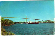 VIEW FROM ALEXANDRIA BAY, NY SIDE OF 1000 ISLANDS BRIDGE, VINTAGE CARD NOT USED