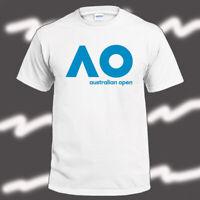 Australian Open AO Tennis Logo Men's White T-Shirt Size S-3XL