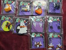 14 Assorted Halloween Necklaces Earrings Pins Ring Ghost Spider Pumpkins