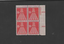 US Scott #C72   Mint-OG/NH  VF 1968 10c Carmine     Plate Block Of 4