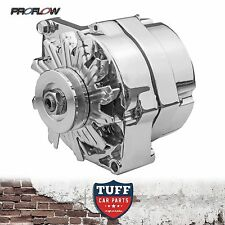 LH LX Holden Torana 253 308 V8 Proflow Chrome Alternator 140 Amp Internal Reg