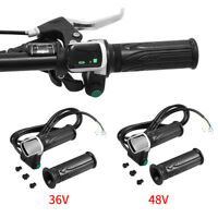 Waterproof LCD Display Throttle Handlebar Grip 6 Wires for E-bike Car Scooter BT