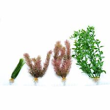 Tetra Water Wonders Plant pack, 4 decorative aquarium plants. 6″,9″,12″, and 18″