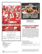 Philadelphia Eagles at Kansas City Chiefs 9-17-2017 PDF e-ticket Super Bowl LII