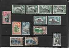 Ceylon selection of Kg6 low values all fine mint hinged as scan See Description