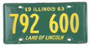 Illinois 1963 License Plate Garage Classic Car Man Cave Vintage Tag Decor Gift