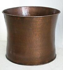 """Large Solid Copper Planter Curved 18.25""""W x 14.75"""" H Stocked in 3 sizes"""