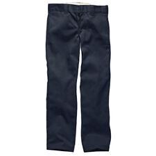 Dickies 873 Slim Straight Work Hommes Slips Pantalons en Coutil - Dark Navy 34w x 32l
