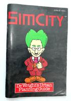 Sim City Dr Wrights Urban Planning Guide Instruction Manual SUPER NINTENDO SNES
