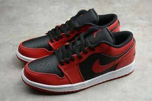 Men's Basketball shoes sneakers MID 8 hole low band black red 553558-606