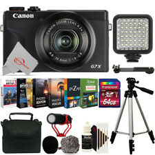Canon PowerShot G7 X Mark III Black Best 4K Vlogging Point & Shoot Camera Bundle