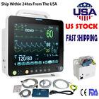 12'' Portable Medical Patient Monitor ICU Vital Signs SpO2/PR/NIBP/ECG/RESP/TEMP