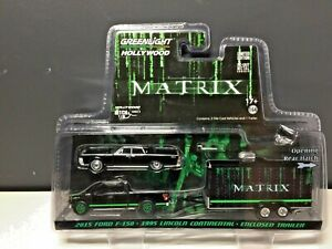 GREENLIGHT Hollywood Hitch & Tow #4 - THE MATRIX - Lincoln  F100 & Trailer 1:64