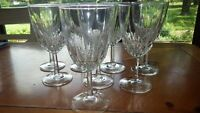Ice Tea Glasses Goblets Diamant by Cristal D'Arques France 8 11 ounce stems