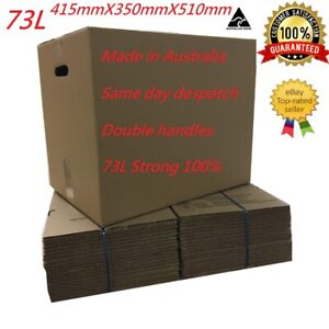 15 X 73L MOVING BOXES WITH HANDLES REMOVALIST PACKAGE DEAL!