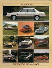 DODGE 1983 USA brochure del mercato 600 400 Aries Omni Caricabatterie COLT Challenger Mirada