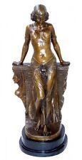 Grande Art Deco Bronzo ORIENTALI Bellezza Firmata Milo