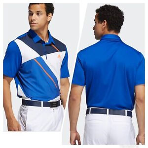 New With Tags! Adidas Golf Men's Ultimate 365 Colorblock Polo Shirt NEW - Royal