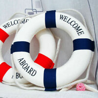 Wall Hangging Mediterranean Nautical Decor Boat Ring Life Buoy Preserver 14 U0N9